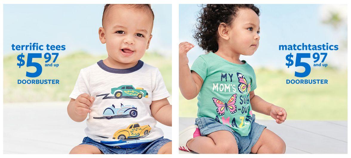 одежда для детей с промокодом Картерс